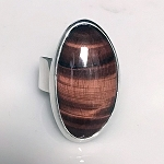 Sculptural Red Tiger Eye Ring